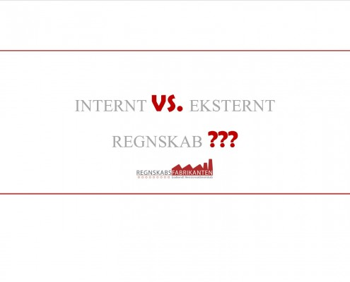 Internt vs eksternt regnskab